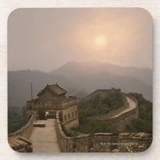 万里の長城の空中写真 コースター