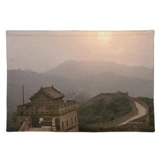 万里の長城の空中写真 ランチョンマット