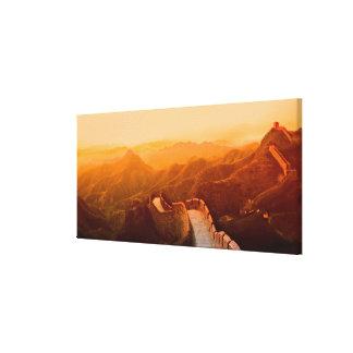 万里の長城、中国の全景 キャンバスプリント