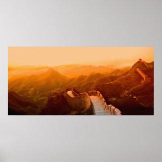 万里の長城、中国の全景 ポスター