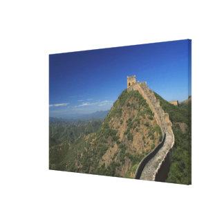 万里の長城、中国の景色 キャンバスプリント