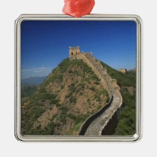 万里の長城、中国の景色 メタルオーナメント