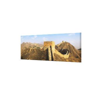 万里の長城、中国2の全景 キャンバスプリント