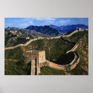 万里の長城、Jinshanlingの中国の景色 ポスター