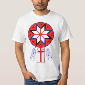 三つに分かれたMi'Kmaqのフォーラムの記号および旗 Tシャツ