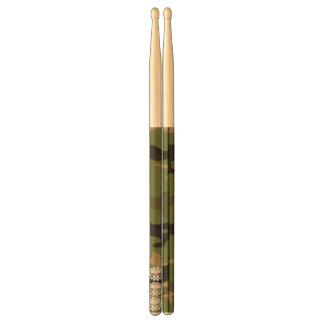 三スカルの森林迷彩柄のドラムスティック ドラムスティック