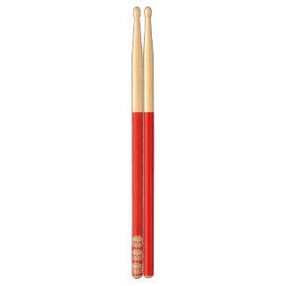 三スカルの赤のドラムスティック 太鼓 ばち
