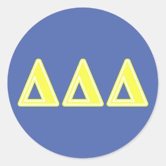 三デルタの黄色の手紙 ラウンドシール
