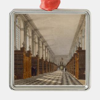 三位一体の大学図書館、ケンブリッジ、frのインテリア シルバーカラー正方形オーナメント