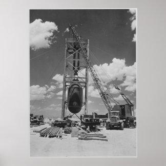 三位一体テストのために置かれるジャンボ原爆 ポスター