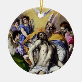 三位一体1577-79年(キャンバスの油) セラミックオーナメント