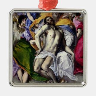 三位一体1577-79年(キャンバスの油) メタルオーナメント
