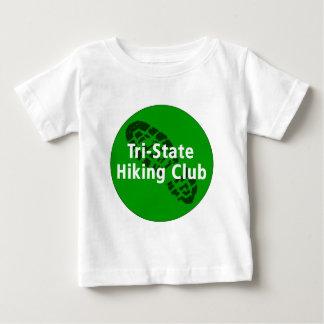 三国から成ったハイキングクラブ-円のロゴ ベビーTシャツ