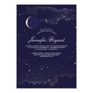 三日月形の月および夜星の菓子16 カード