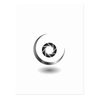 三日月形の月が付いている写真撮影シャッター ポストカード