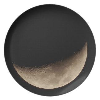 三日月形の月のプレート プレート