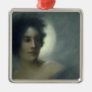 三日月形の月または、食1888年の女性 メタルオーナメント