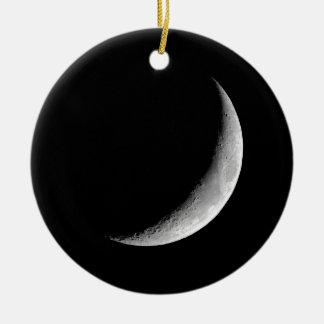 三日月形の月 セラミックオーナメント