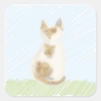三毛猫 スクエアシール
