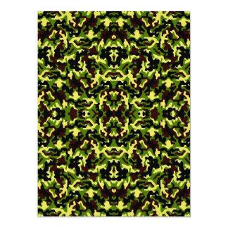 三番目のカムフラージュ! (ジャングルの緑の) ~ 16.5 X 22.2 インビテーションカード