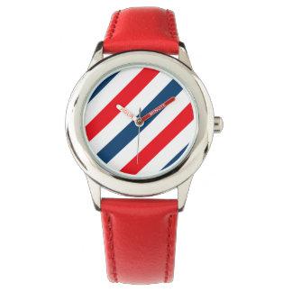 三色の斜めの線度器 腕時計