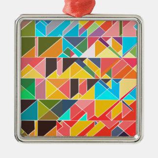 三角の抽象デザイン メタルオーナメント