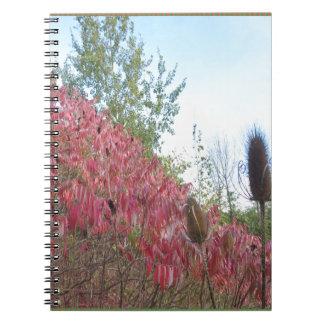 三角形のカラフルな自然のプリントのGoodluckの暖かい秋 ノートブック