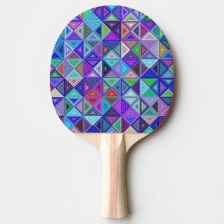 三角形のタイルのモザイク 卓球ラケット