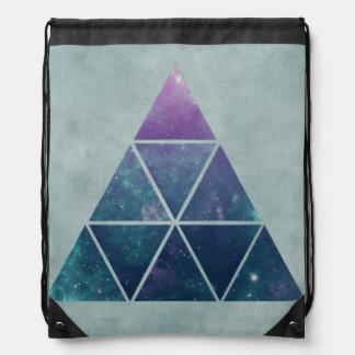 三角形のドローストリングのバックパック ナップサック