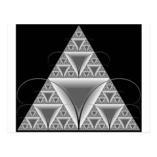 三角形のフラクタルのMechoの美しい魅了の蟻 ポストカード