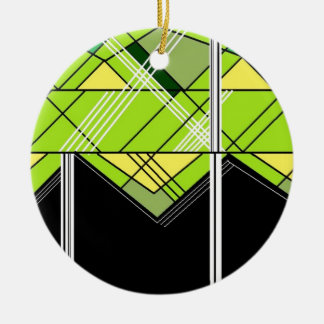 三角形のプリント セラミックオーナメント