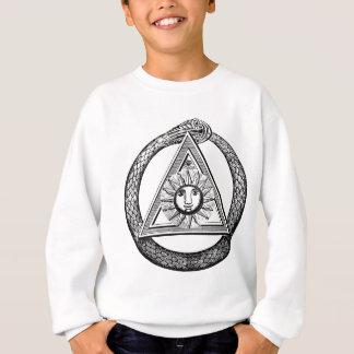 三角形のヘビの石大工のTシャツ スウェットシャツ