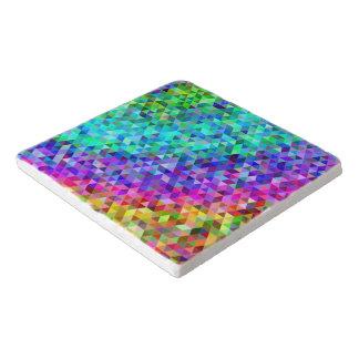 三角形のモザイク虹 トリベット