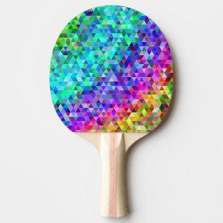 三角形のモザイク虹 卓球ラケット