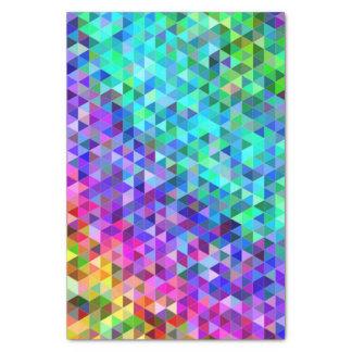 三角形のモザイク虹 薄葉紙