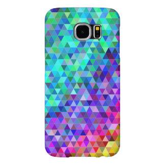 三角形のモザイク虹 SAMSUNG GALAXY S6 ケース
