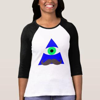 三角形の目の髭 Tシャツ