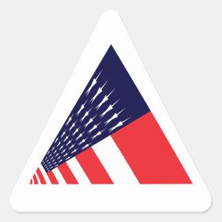 三角形の米国旗 三角形シール