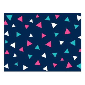 三角形の紙吹雪のデザイン ポストカード