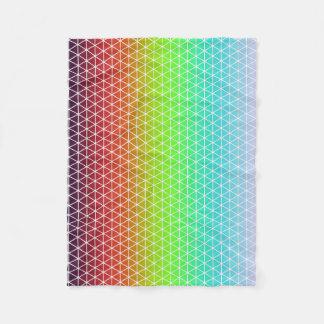 三角形の虹幾何学的なフレームワーク平面充填 フリースブランケット