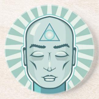 三角形の記号の古代ベクトル顔 コースター