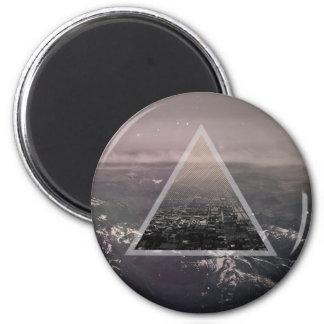 三角形の都市 マグネット