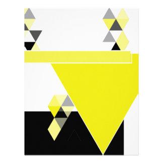 三角形の黒い黄色 レターヘッド