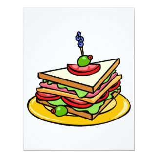 三角形サンドイッチ招待状 10.8 X 14 インビテーションカード