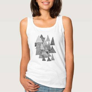 三角形パターン タンクトップ