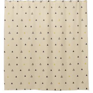 三角形幾何学的なパターンクリームのシャワー・カーテン シャワーカーテン