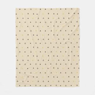 三角形幾何学的なパターンクリームのフリースブランケット フリースブランケット