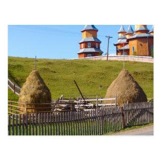 三角波および印象的な教会、モルドバ ポストカード
