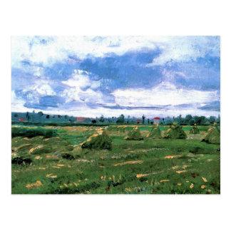 三角波が付いているゴッホの小麦畑、ファインアート ポストカード