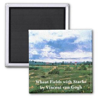 三角波が付いているゴッホの小麦畑、ファインアート マグネット